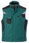 Preview: jn-825-craftsmen-softshell-vest-dark-green-black-arbeitsweste-ansicht-vorne